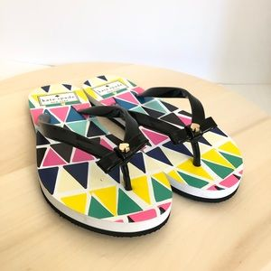 NEW Kate Spade Nimi Triangle Bow Flip Flops
